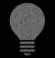 white pixel electric bulb icon vector image