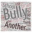 Will your child die of Bullycide text background vector image vector image