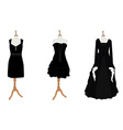 Woman black dresses vector image