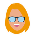 woman with sunglasses vector image vector image