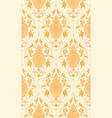 yellow pattern with damask vector image