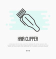 hair clipper thin line icon vector image