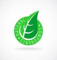 Natural leaf badge for package design vector image