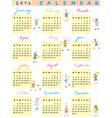 2013 calendar kids vector image