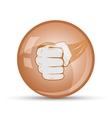 fist icon to close sports vector image