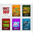 set of color posters for the new years party in vector image