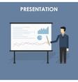 businessman presenting vector image