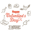 14th February collection vector image vector image