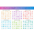 180 trendy perfect gradient icons set legal vector image vector image