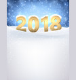 2018 new year background with snow vector image