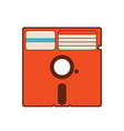 525 floppy disk vintage diskette classic vector image vector image