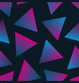 80s retro style seamless pattern vector image vector image
