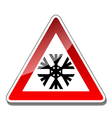 A warning sign vector image vector image