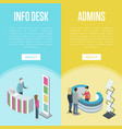 administration and information desk flyers vector image