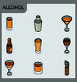 Alcohol color outline isometric icons