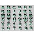 alphabet fire flame green vector image