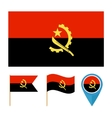 Angola icons for design country vector image vector image