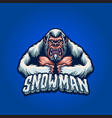 bigfoot angry snow man vector image