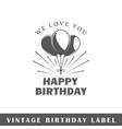 birthday label vector image