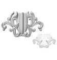carved decor 7 vector image vector image