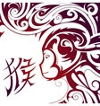 Chinese New Year Monkey symbol vector image