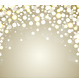 christmas background abstract golden defocused vector image vector image
