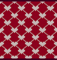 christmas seamless knitted pattern background vector image vector image