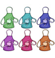 Colorful aprons vector image vector image