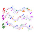 colorful musical notes vector image vector image