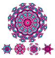 colorful round ethnic mandala vector image