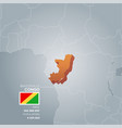 congo information map vector image