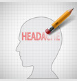 cure for migraine and stress vector image