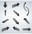 dashed wide 3d arrow collection vector image vector image