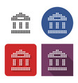 dotted icon bank building ancient style vector image vector image