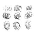 drawn round lines doodles sketch bubble vector image