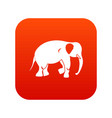 elephant icon digital red vector image