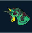 eletrounicorn vector image vector image