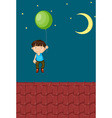 Floating away vector image vector image