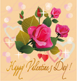 flowers postcard valentine s day vector image