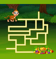 game monkey maze find their way to the fruit vector image vector image