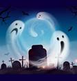 ghosts halloween realistic vector image