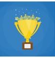 golden winners trophy full dollars vector image vector image
