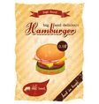 hamburger retro poster vector image