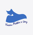 happy mother day symbol vector image vector image