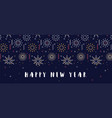 happy new year- 2021 banner with firework vector image vector image