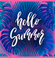 hello summer brush lettering vector image vector image
