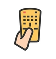 Holding Remote vector image