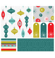 holiday seamless patterns gift tags and designs vector image vector image