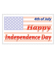 Independence Day post stamp vector image