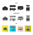 isolated object of market and exterior icon vector image